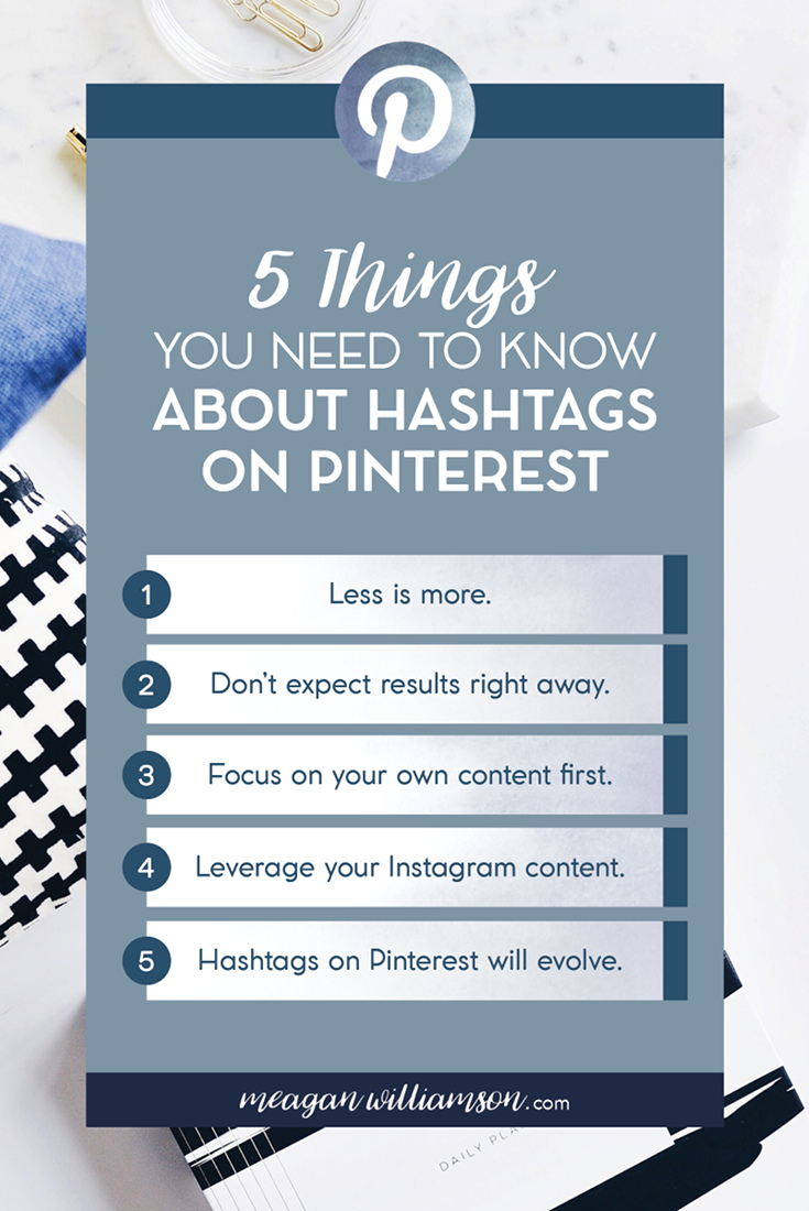 Confused about how to use hashtags on Pinterest? Here are 5 quick tips (and more) for you to know about using hashtags on Pinterest #Pinteresttips #bloggingtips #Pinterestmarketing
