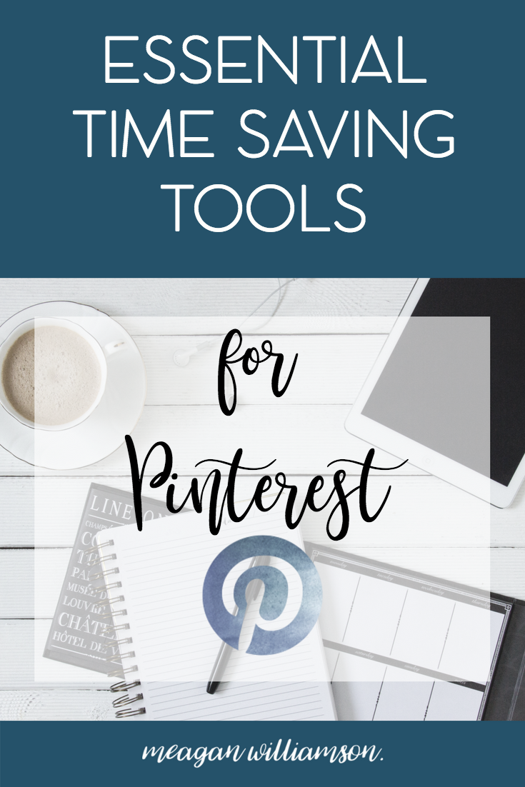 Photo of desktop: Essential time saving tools for Pinterest.