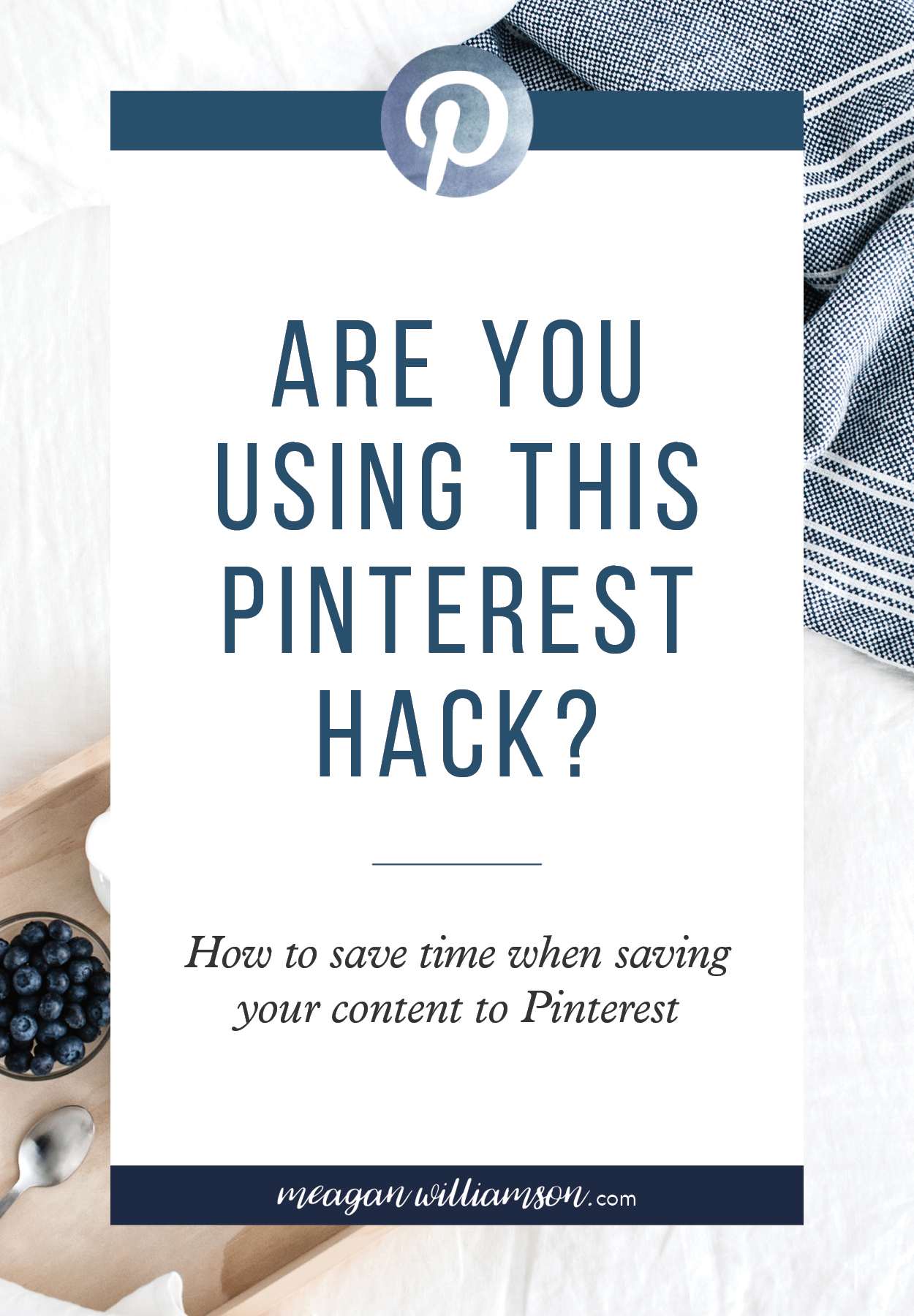 Text Image: Are you using this Pinterest hack? How to save time when saving your content to Pinterest.