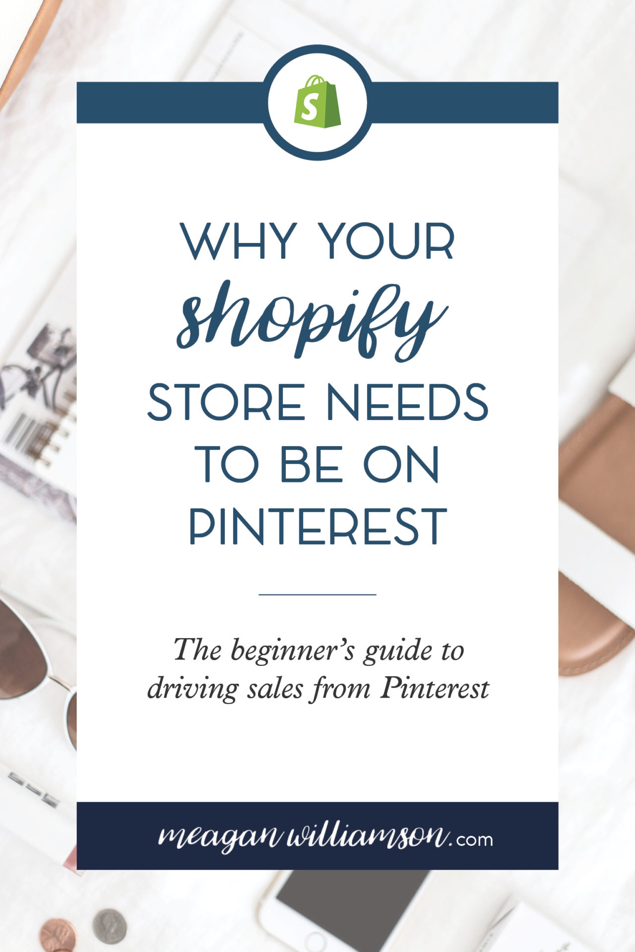 Text on white background why your shopify store needs to be on Pinterest