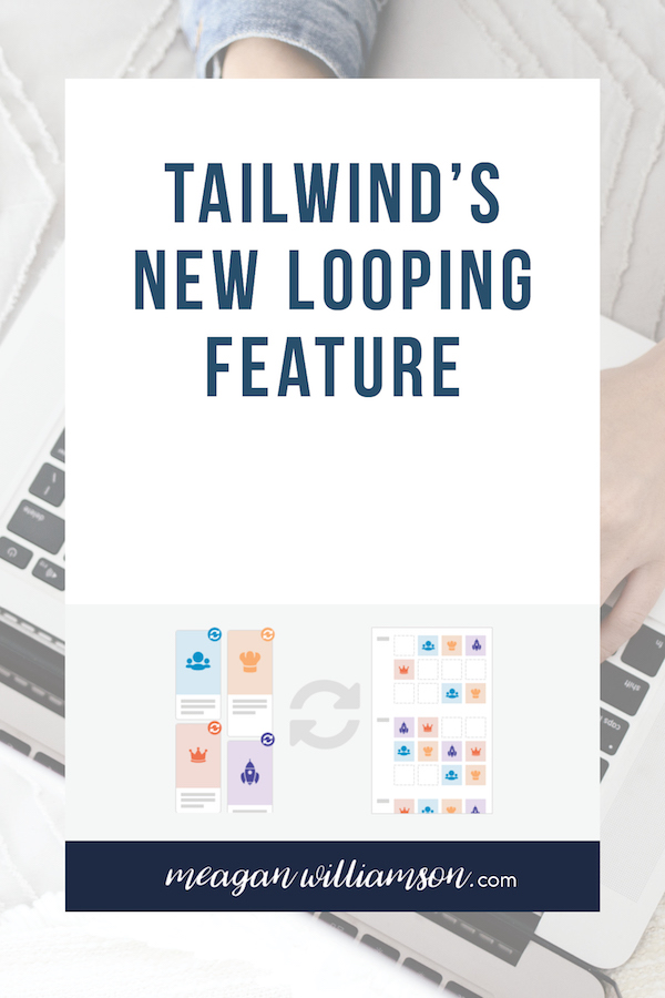 image of text Tailwind new looping feature with looping diagram