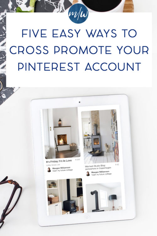 iphone with Pinterest feed featured on it