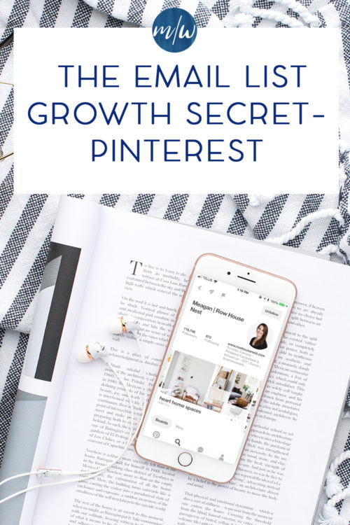 iphone with Pinterest profile pictured