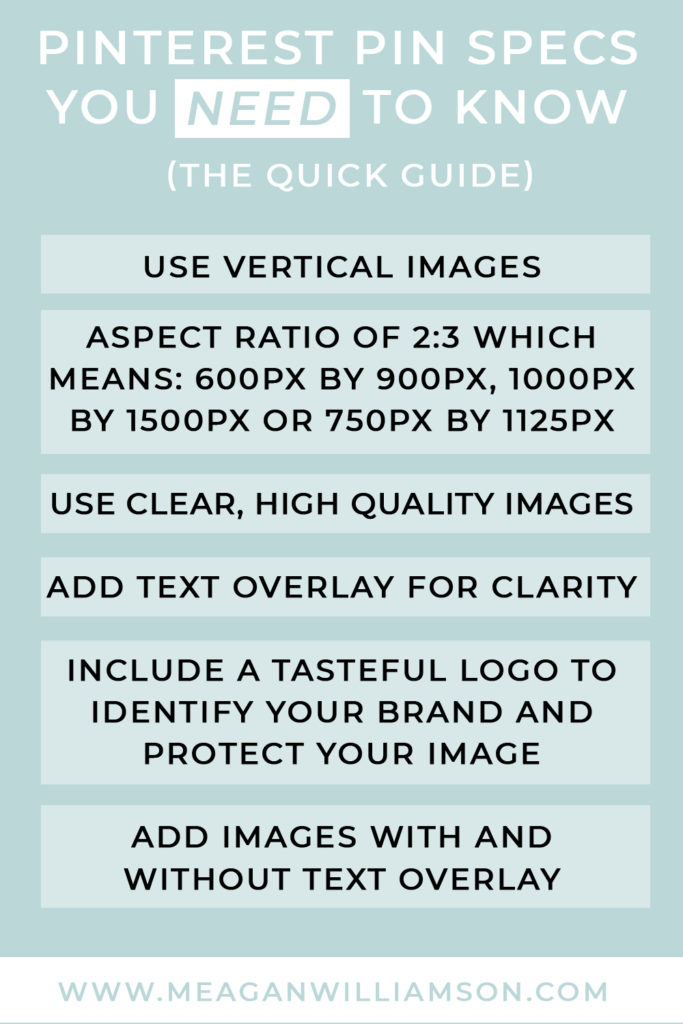 pinterest infographic about Pin image size