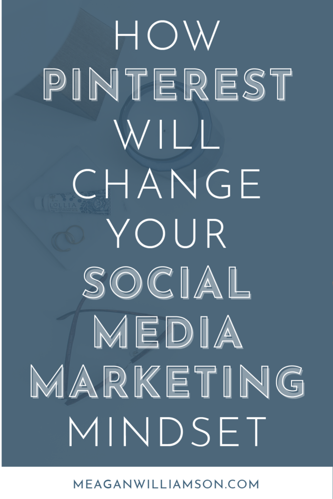"text overlap on blue background ""pinterest will change your social media marketing"""