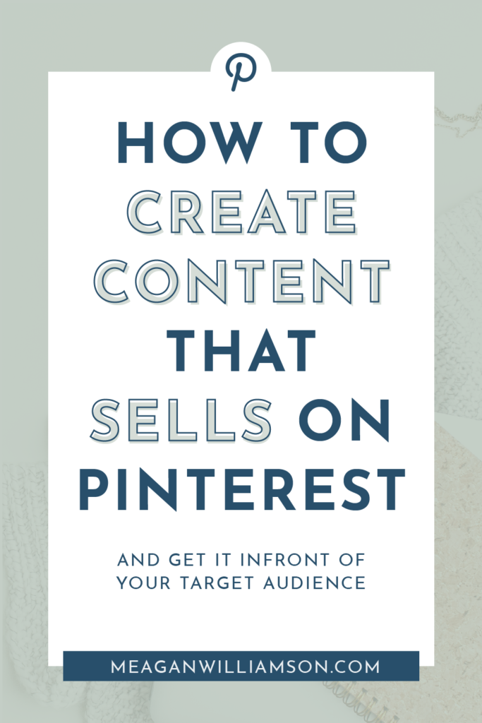 blue background with white overlay - text overlay about pinterest marketing