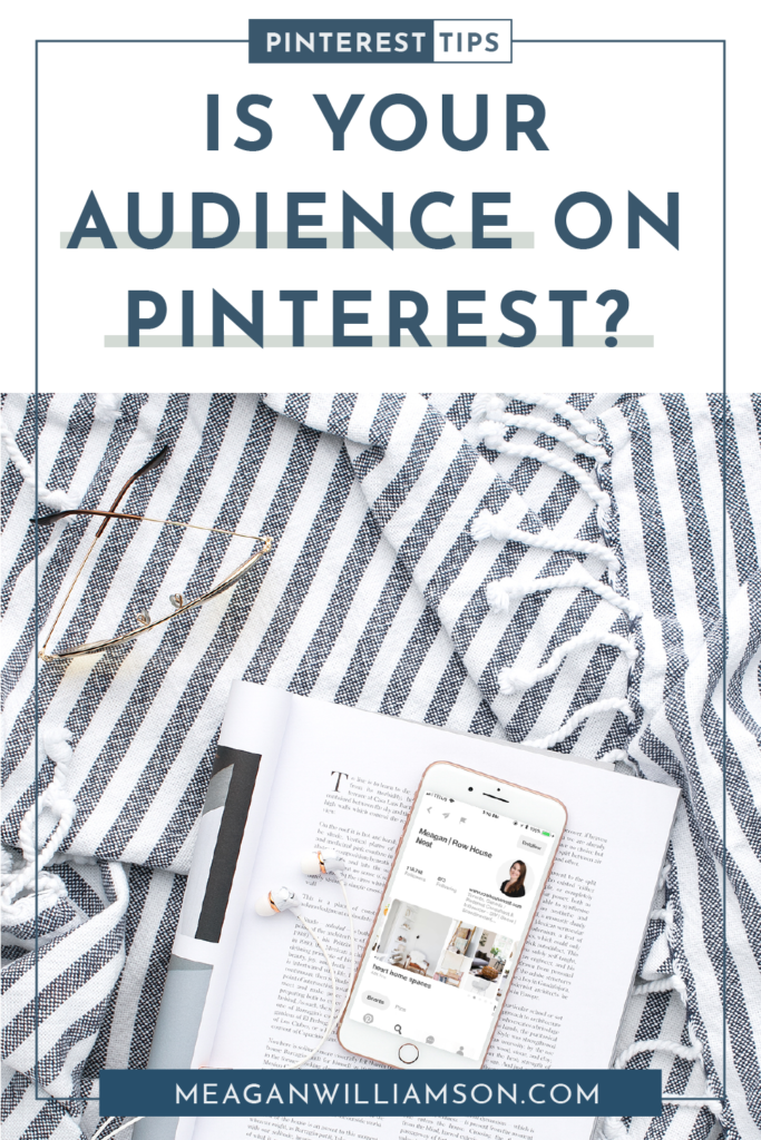 book and phone with Pinterest feed on a blanket