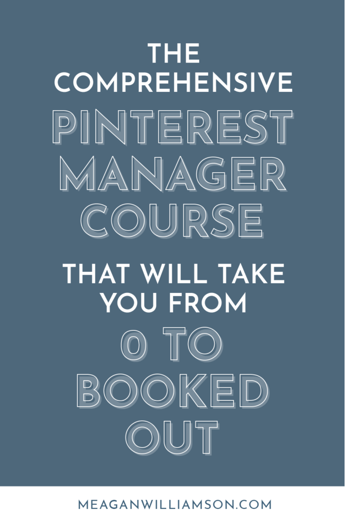 "blue background with text ""pinterest manager course"""