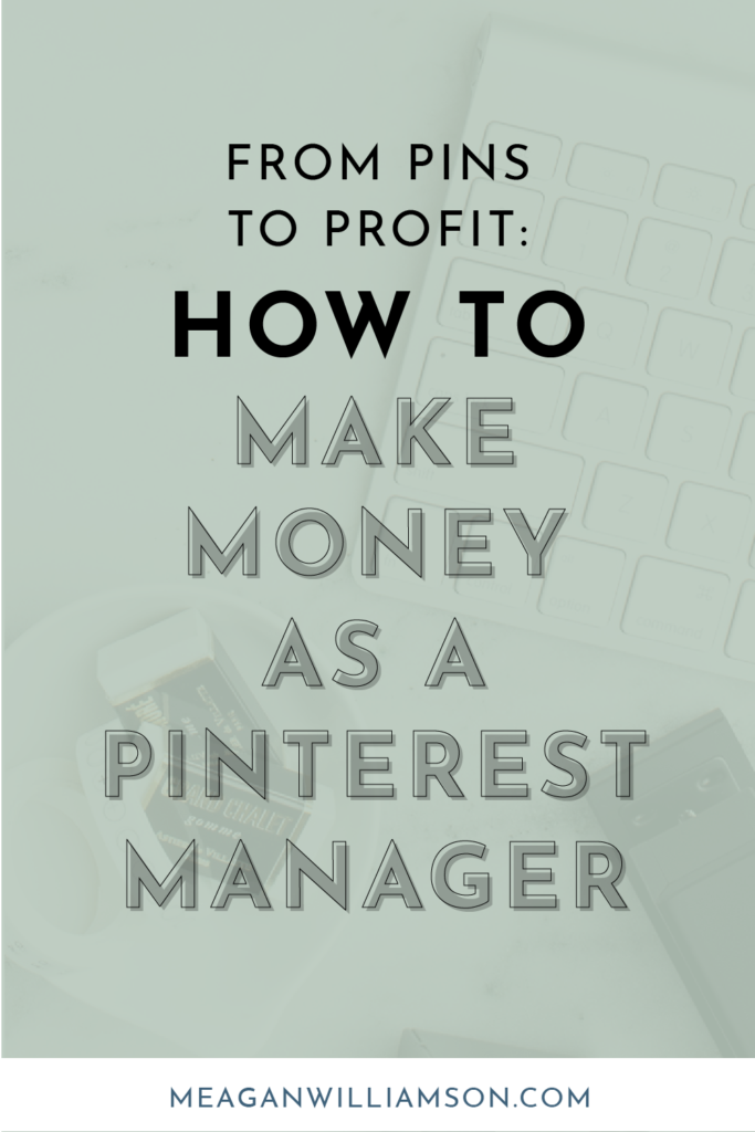 green background with black text how to make money as a pinterest va