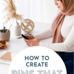 Promotional graphic for blog post on Pinterest Pin designs by Meagan Williamson